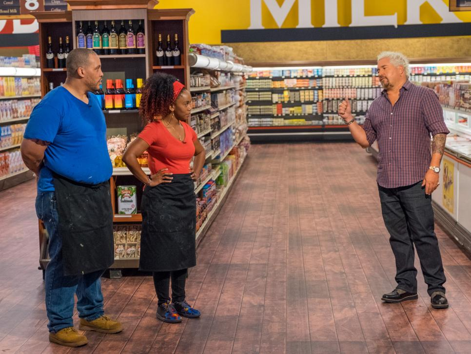 Chef Toya competes on Food Network's Guys Grocery Games