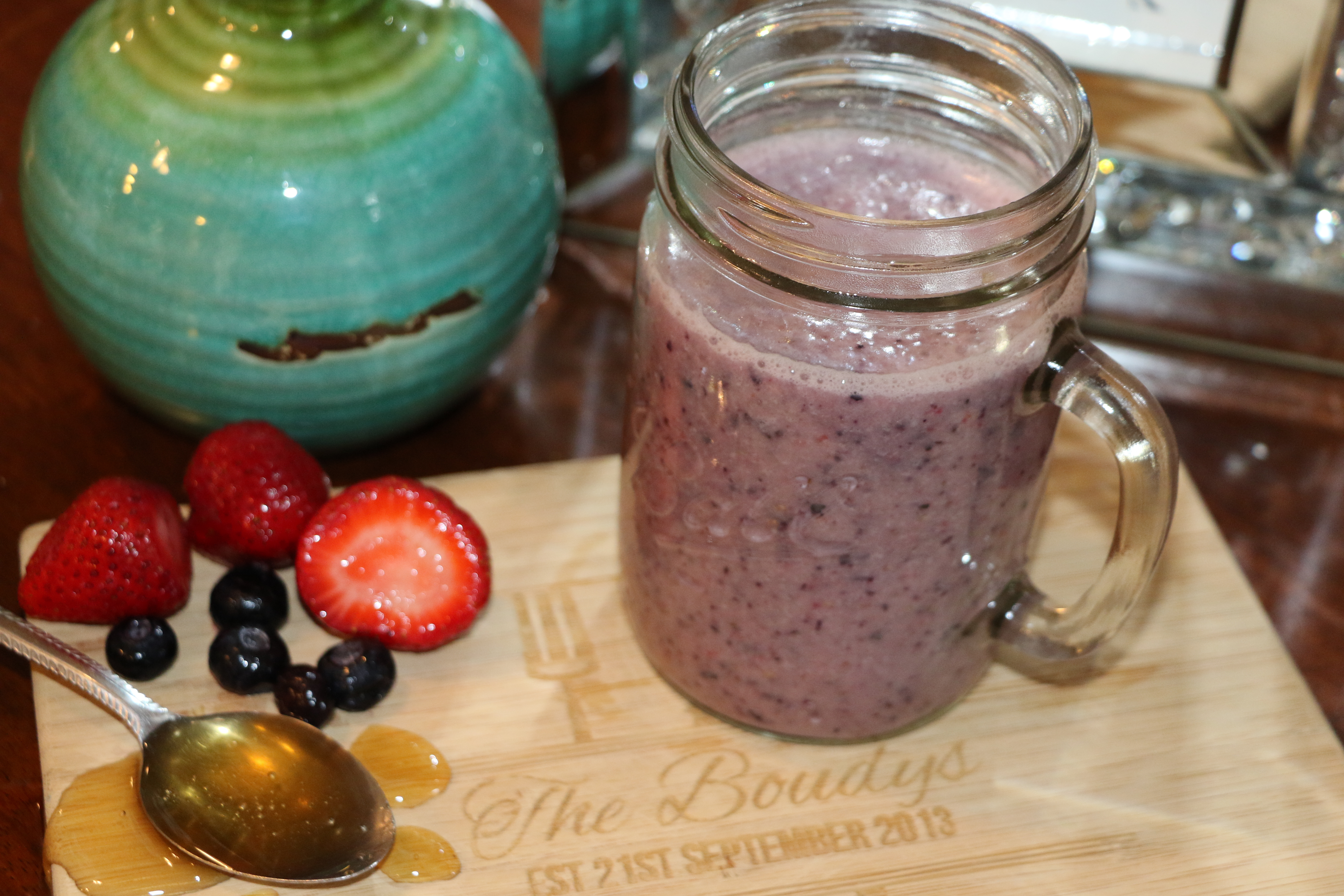 Double Berry Banana Smoothie