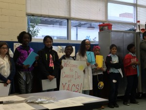 The welcome committee at Young Audience Charter School