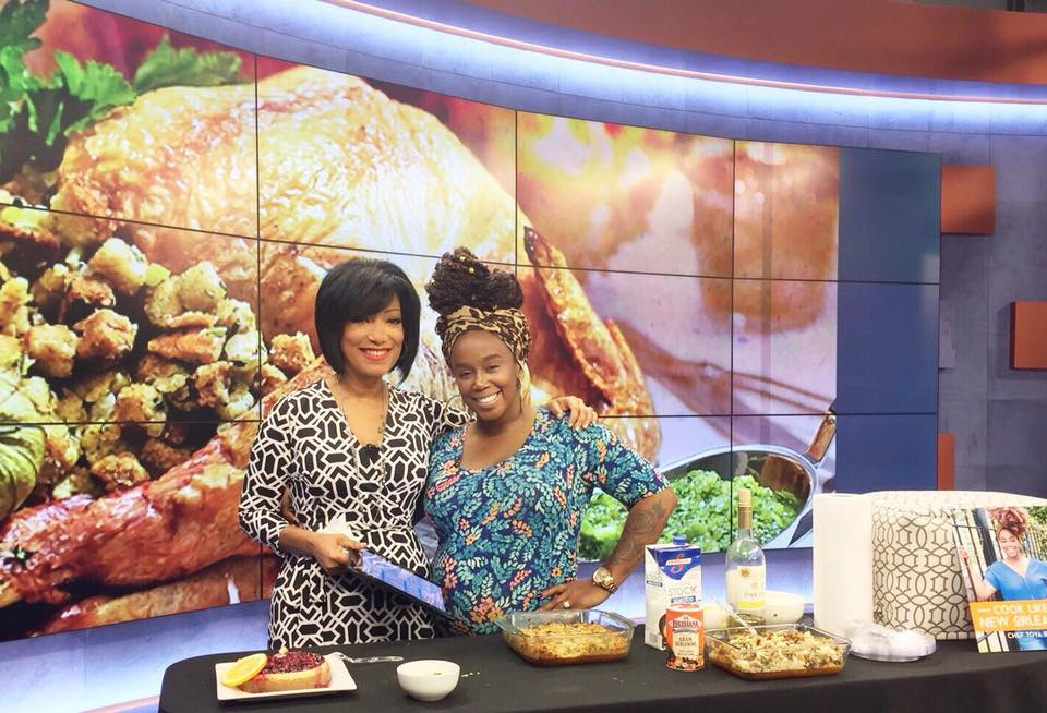 Chef Toya Boudy on Fox 8 with Liz Reyes